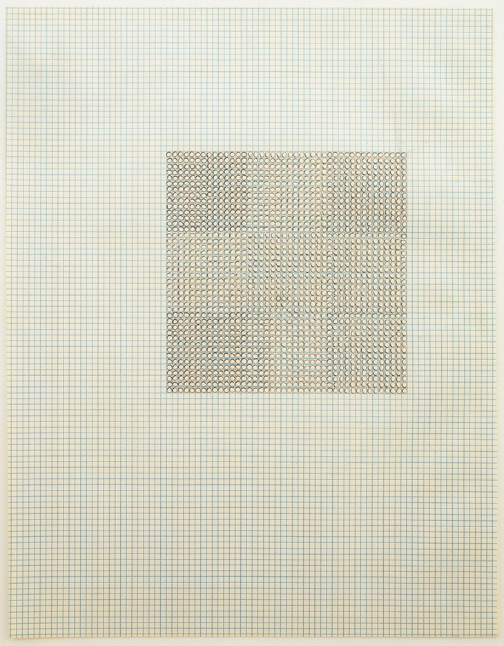 figure 2 eva hesse untitled 1967 ink on graph paper 11 x 8 1 2 inches ...