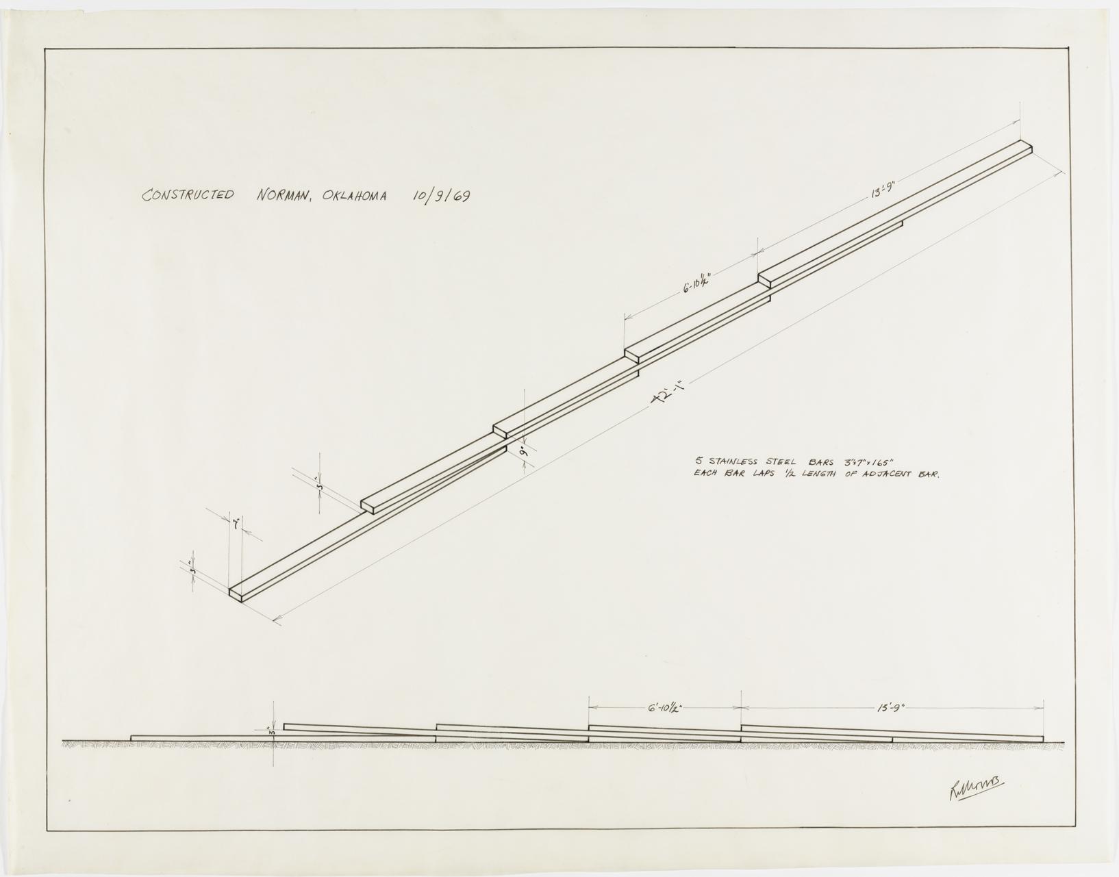 "Robert Morris, ""Untitled,"" 1969, felt-tip pen on transparentized paper ..."